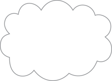 Cloud: The symbol used to denote the boundary of a cloud environment.