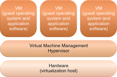 Hardware-based and Operating System-based Virtualization : The different logical layers of hardwarebased virtualization, which does not require another host operating system.